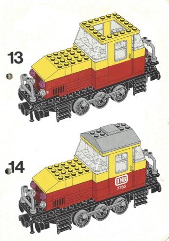 Diesellokomotive mit Lego