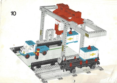 Lego-Container-Ladestation