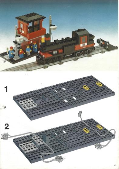 Lego Dampflokomotive zusammenbauen