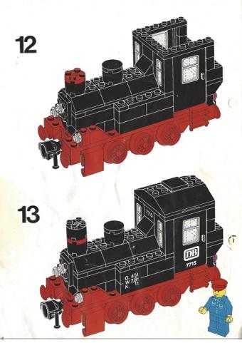 Dampflokomotive von Lego