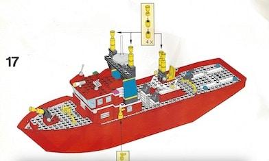 Lego-Feuerwehrboot