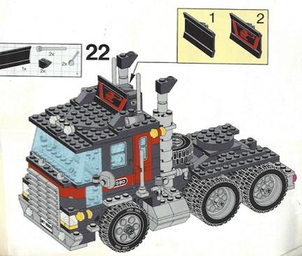 Lego sortieren, dann Sattelzugmaschine bauen