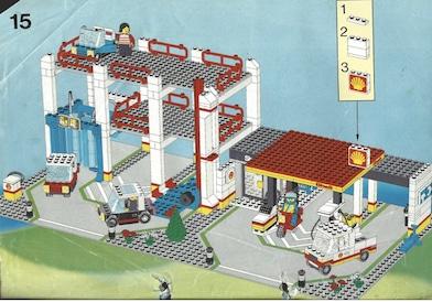 Lego-Tankstelle-Waschanlage-Garage