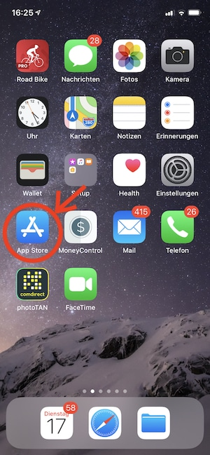 App-Store im iPhone suchen