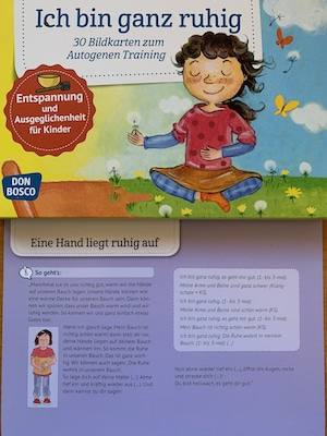 Ich bin ganz ruhig - Bildkarten für Kinder zum autogenen Training