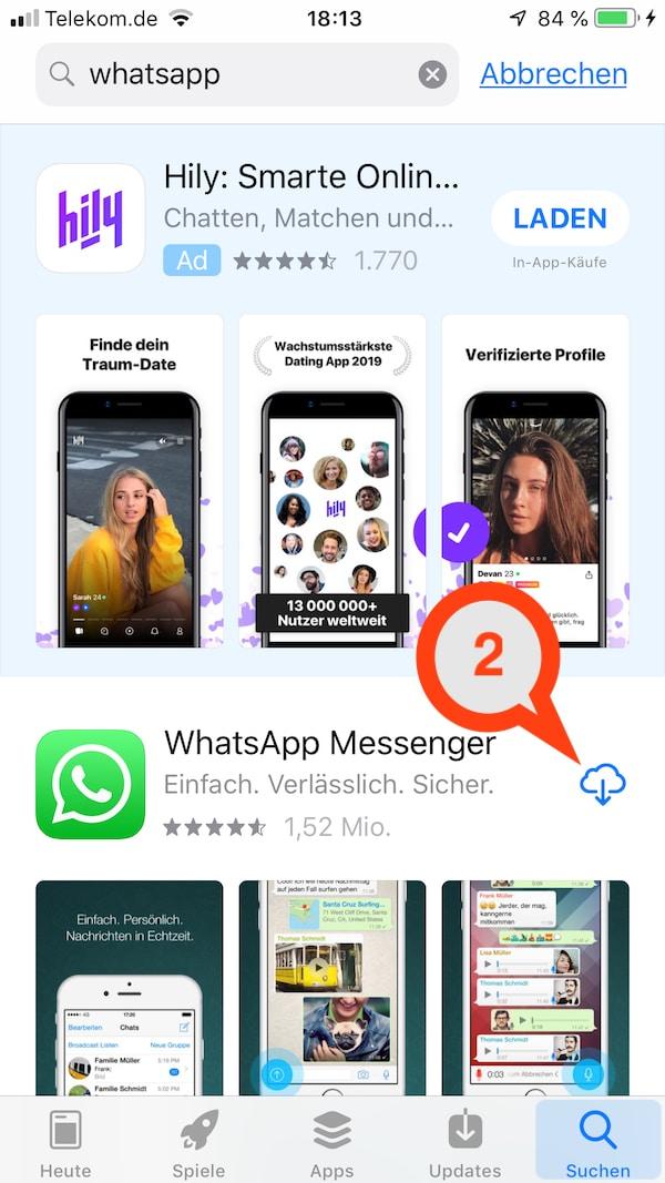 WhatsApp herunterladen auf das Smartphone