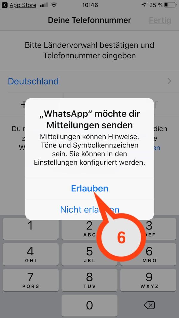 WhatsApp den Zugriff auf eigene Kontakte erlauben