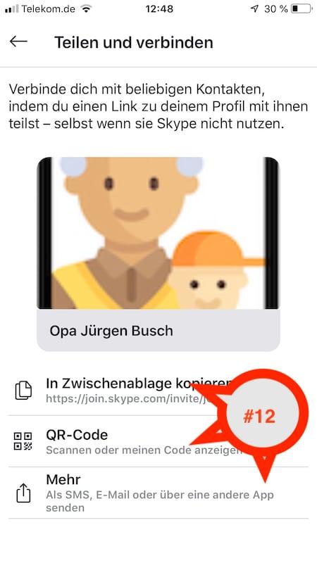 Teile und verbinde als Opa und Opa deine Skype-Kontakte