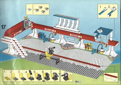 Lego Autorennen mit Tribüne