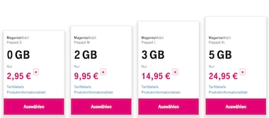 Prepaid-Option für Senioren-Handy