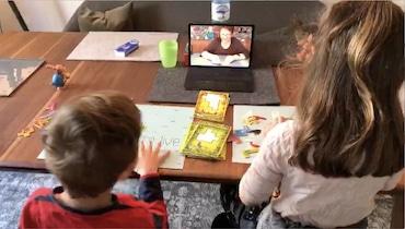 virtuelles Spielen mit Enkelkindern