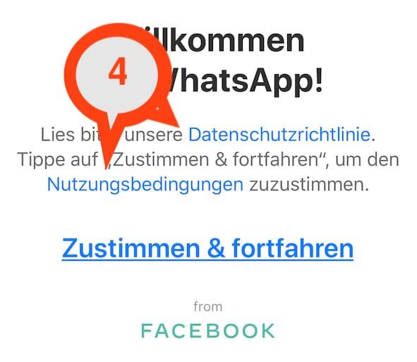 WhatsApp einrichten in Schritten