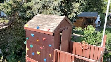 Kletterwand im Garten bauen
