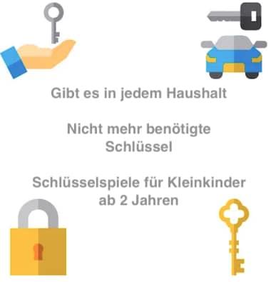 Schlüsselspiele ab 2 Jahren