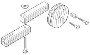 Zusammenbau der Körbchen Kinderspiel Seilbahn