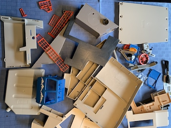 Zusammenbau-Seilbahn-Playmobil