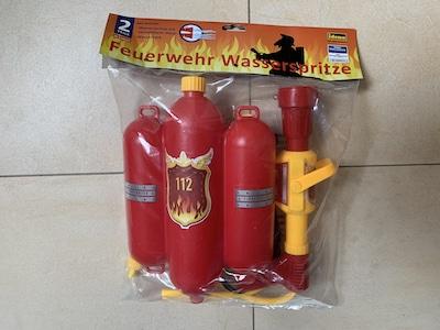 Wasserspiele mit der Feuerwehr-Wasserspritze bzw. -schlauch
