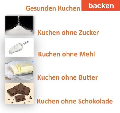 gesunden Kuchen backen - Tipps