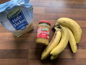 gesunder Kuchen mit Banane ohne Zucker