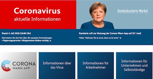 Coronavirus-Informtionen der Bundesregierung