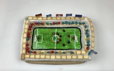 Geburtstagskuchen Fußballstadion