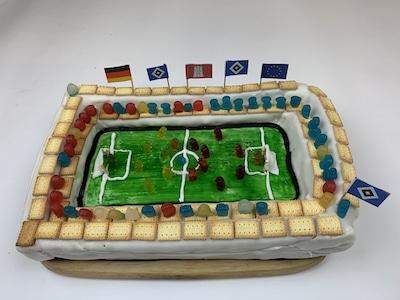 Geburtstagkuchen Fussball-Stadion
