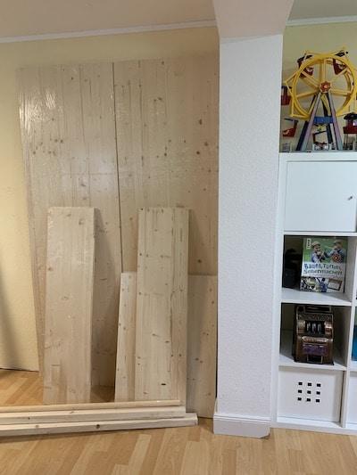 Kletterwand im Kinderzimmer - Baumaterial
