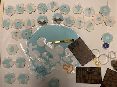 Baby-Motive für Kekse ausschneiden