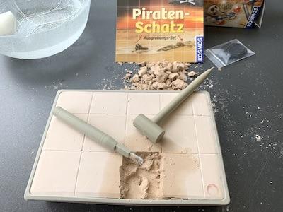 kein Piratenschatz im 1. Quadrat gefunden