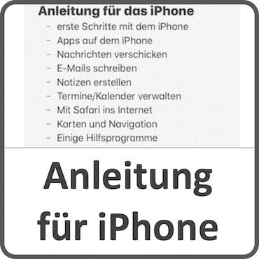 Anleitung iPhone für Senioren