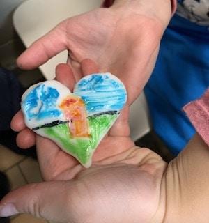 bemalte Herz-Kekse