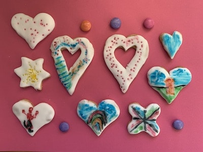 Herz-Kekse backen