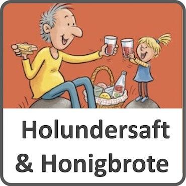 Holundersaft und Honigbrote
