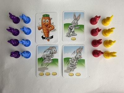 Vier unterschiedlichen Lotti-Karotti-Karten