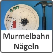 Murmelbahn aus Nägeln bauen