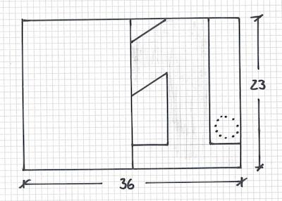 Technische Zeichnung für Geburtstagskuchen