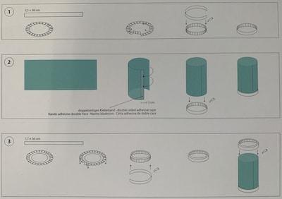 Anleitung für Boden-Deckel-Transparentzylinder der Laterne