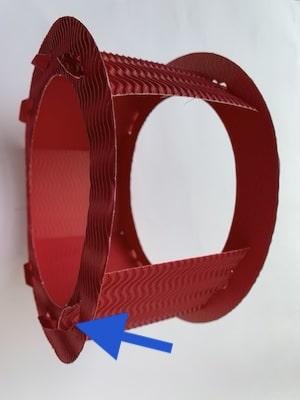 Der Rahmen für die Feuerwehr-Laterne