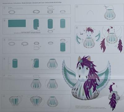 Laterne Pegasus für Mädchen