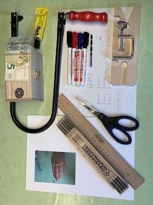 Sparschatuelle - Material und Werkzeuge