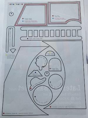 Vorlagebogen für die Feuerwehr-Laterne