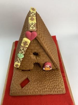 Lebkuchenhaus-Dekoration