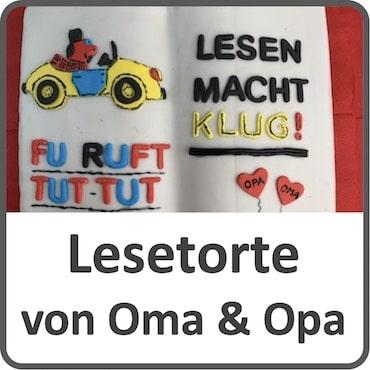 Lesetorte von Opa und Oma