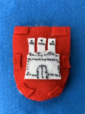 Wappen von Hamburg aus Filz