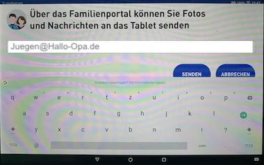 E-Mail an Familienangehörige senden