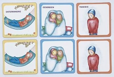 Karten im Memo-Spiel Giraffimo