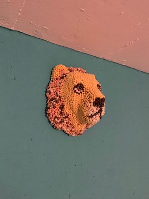 Löwe aus Playmais ist fertig