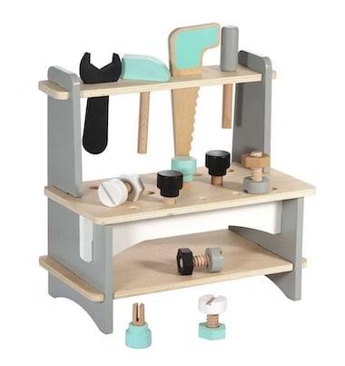 Werkbank für Kleinkinder aus Holz