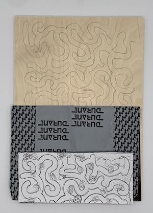 Labyrinth-Vorlage auf Holz übertragen