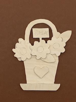 Laubsägevorlage Blumen für Oma